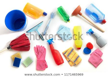 squeegee mop on white background stock photo © wavebreak_media