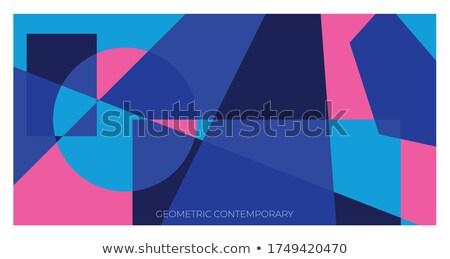üçgen geometrik model duvar kağıdı soyut dizayn Stok fotoğraf © igor_shmel