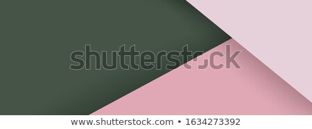 Stok fotoğraf: Horizontal Rose Color Banner With Triangle