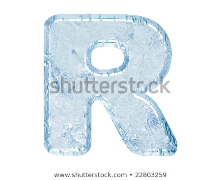 Ice font letter R 3D Stock photo © djmilic