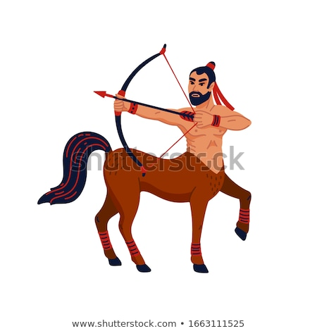 Centaur fairytale creature. Man horse isolated. Fantastic animal Stock photo © popaukropa