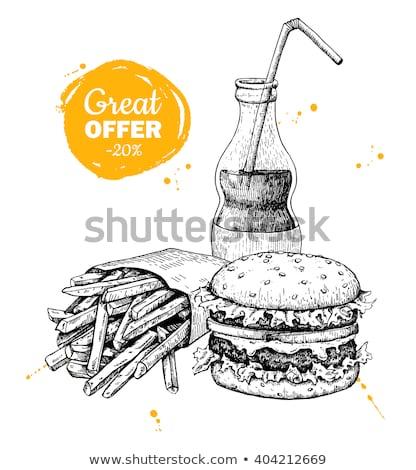 árengedmény utalvány poszter sablon ajánlat részletek Stock fotó © SArts