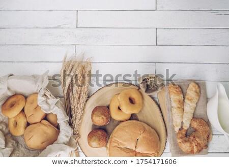 Alimentos orgánicos pan rural alimentos fondo cena Foto stock © JanPietruszka