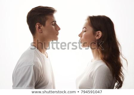 Man standing with eyes closed Stock photo © wavebreak_media