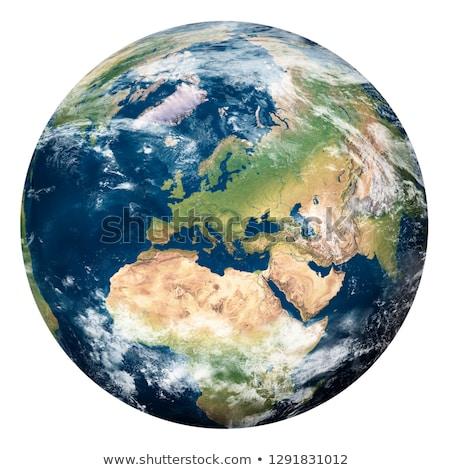 Aarde asia witte geïsoleerd wereldbol model Stockfoto © ixstudio