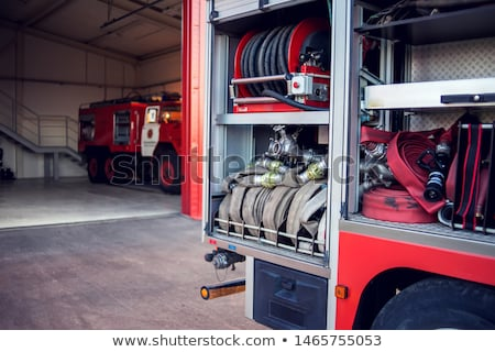 pormenor · lado · painel · de · controle · moderno · carro · de · bombeiros - foto stock © monkey_business
