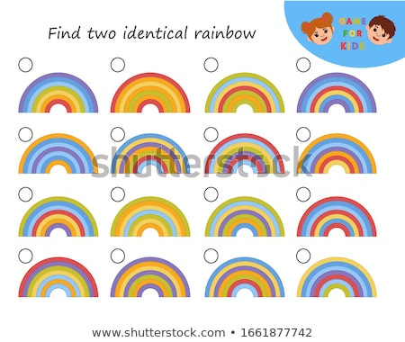 Talál azonos mértan formák játék gyerekek Stock fotó © Olena