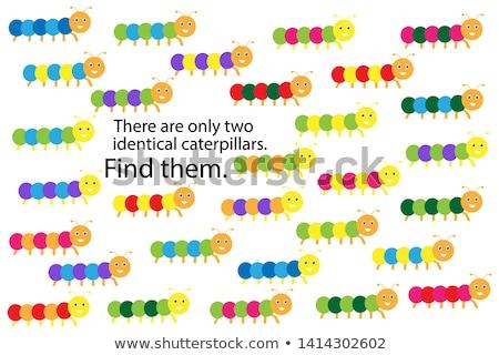 quebra-cabeça · insetos · jogo · crianças · adultos - foto stock © olena