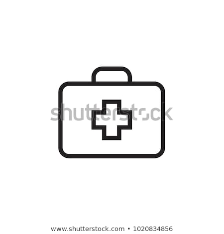 icon of the first aid  silhouette Stock photo © Olena