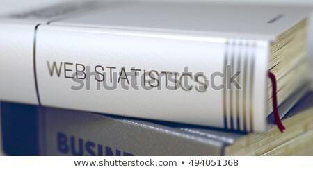 Könyv cím gerincoszlop háló statisztika 3D Stock fotó © tashatuvango