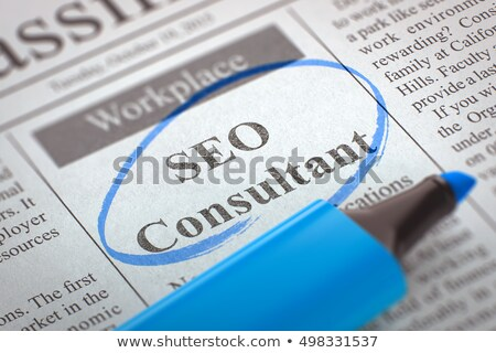 We are Hiring Search Engine Optimization Specialist. 3D. Stock photo © tashatuvango