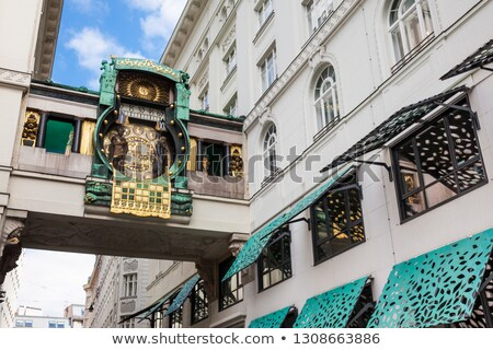 historic musical clock in vienna stock photo © manfredxy