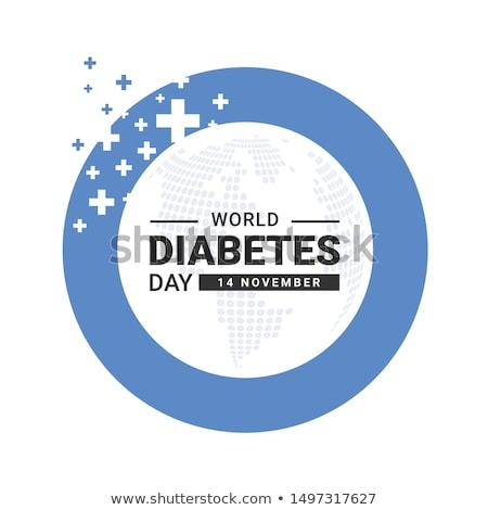 Dünya diyabet gün 14 takvim tebrik kartı Stok fotoğraf © Olena