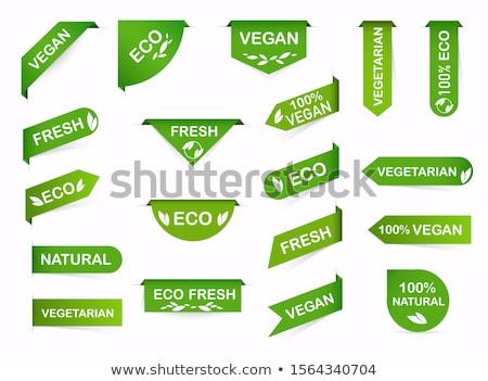 groene · geïsoleerd · witte · prijs · tag · papier - stockfoto © magann