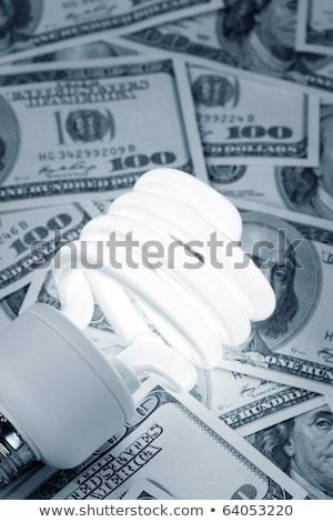 Zwarty fluorescencyjny żarówka Dolar Zdjęcia stock © devon