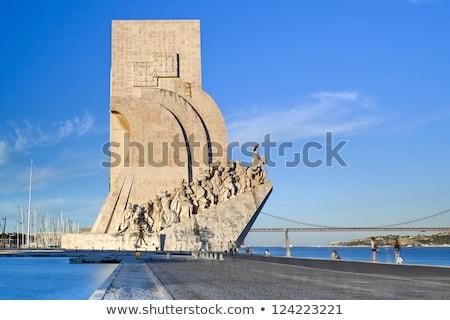 里斯本 · 著名 · 葡萄牙 · 海 · 橋 · 藍色 - 商業照片 © luissantos84