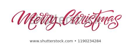 Stockfoto: Rood · woorden · vrolijk · christmas · grijs