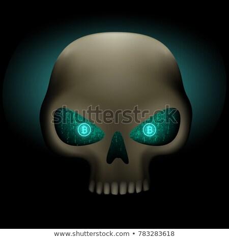 Crâne bitcoin yeux sombre Photo stock © romvo