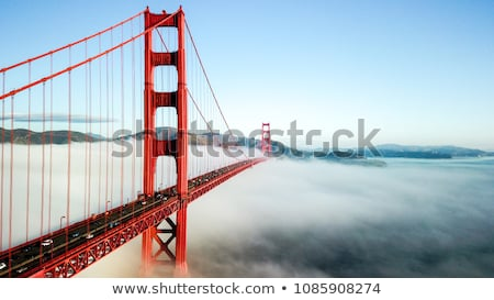 Golden Gate Bridge ver San Francisco Califórnia EUA nebuloso Foto stock © dirkr