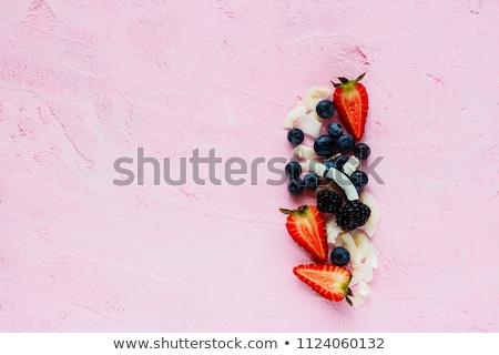 Ingredientes vermelho beber vidro Foto stock © YuliyaGontar