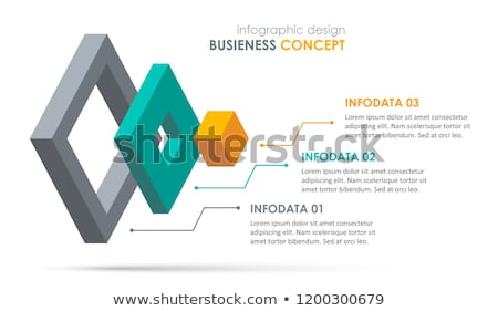 Vector Infographic layers template Stock photo © orson