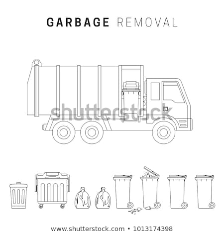 garbage removal line drawing stock photo © biv
