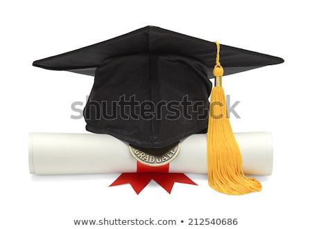 Close-up Of Black Graduation Cap Stock photo © AndreyPopov