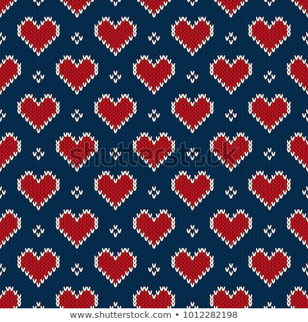 lana · suéter · patrón · invierno · rojo · negro - foto stock © popaukropa
