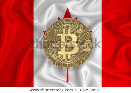 Or pièce bitcoin symbole numérique monnaie Photo stock © user_11870380