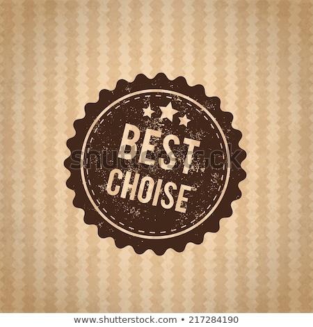 Лучший выбор штампа знак картона звездой красный Сток-фото © barbaliss