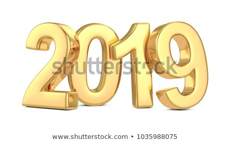 Stock photo: Gold 2019 come