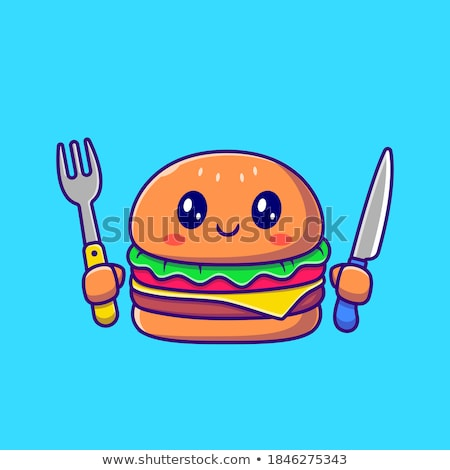 Cheeseburger isolated icon in flat style Stock photo © studioworkstock