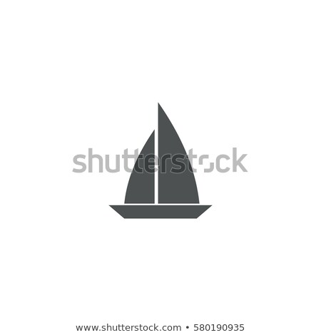 fishing boats side view isolated labels set stock photo © studioworkstock