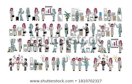 árabe · negócio · colegas · isolado · grande · conjunto - foto stock © studioworkstock