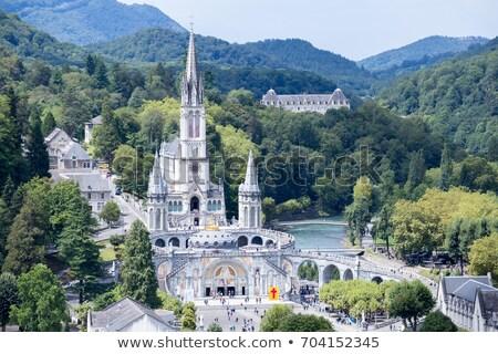 Basílica cênico ver céu nuvens edifício Foto stock © ldambies