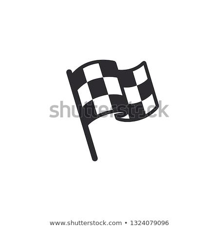 Checkered symbol set Stock photo © milsiart