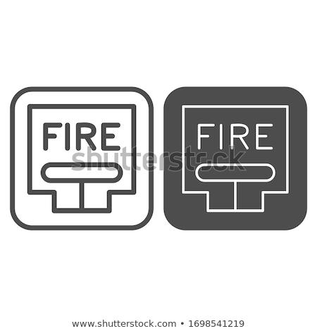 tűzjelző · húzás · állomás · izolált · fényes · piros - stock fotó © sidewaysdesign