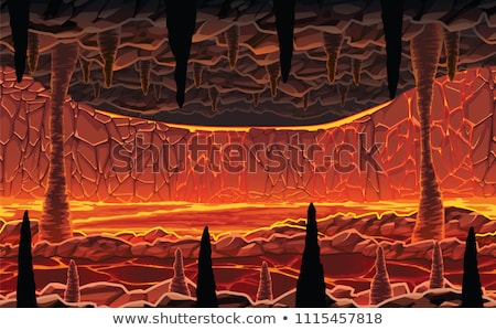 A Lava Cave Game Template  Stock photo © bluering