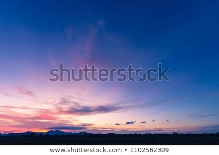 Azul montanhas madrugada vermelho espetacular rocha Foto stock © lovleah