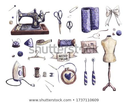 Rongyos varr próbababa elegáns illusztráció fém Stock fotó © lenm