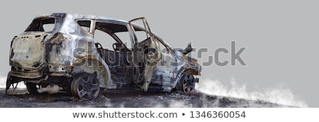 fire burnt car vehicle stock photo © ia_64