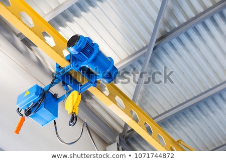 Swivel electric crane hook for overhead crane in the workshop Stock photo © Virgin
