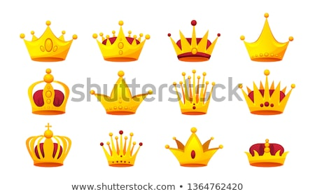 King Crown isolated. Royal Cap vector illustration Stock photo © MaryValery