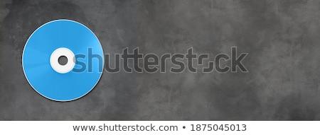 Blauw · cd · witte · papier · muziek · technologie - stockfoto © daboost