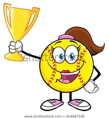 gouden · trofee · beker · vector · cartoon · illustratie - stockfoto © hittoon