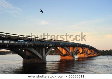 Metra most Ukraina metra pociągu niebo Zdjęcia stock © joyr
