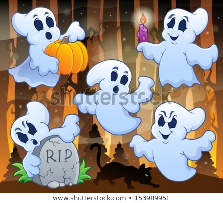 halloween image with ghosts theme 3 stock photo © clairev