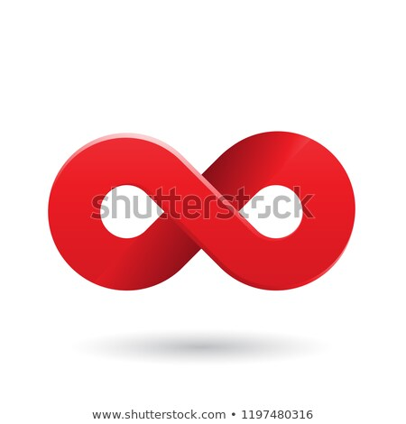 Stock photo: Red Shaded and Thick Infinity Symbol Vector Illustration
