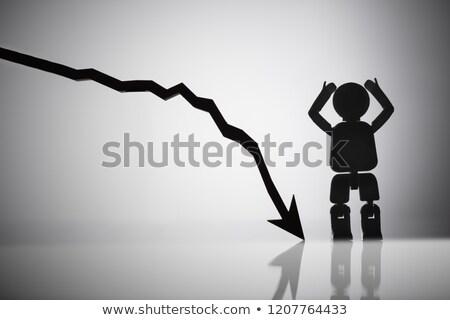 kierunku · rozpacz · działalności · wolna · siebie · zamieszanie - zdjęcia stock © andreypopov