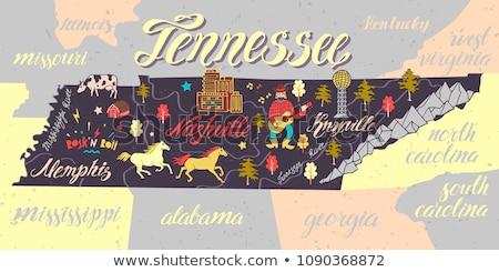 漫画 テネシー州 実例 笑みを浮かべて 幸せ グラフィック ストックフォト © cthoman
